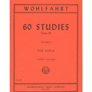 Wohlfahrt Franz 60 Studies Op. 45: Volume 2 - Viola solo - by Joseph Vieland International Music